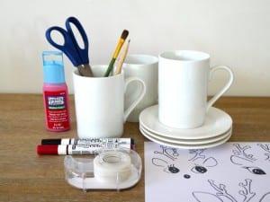 DIY, Porselen Kupa Boyama Yapılışı 5