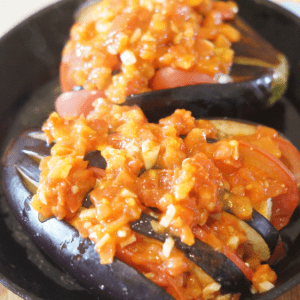 Domates Ve Peynirle Fırında Patlıcan 13