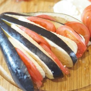 Domates Ve Peynirle Fırında Patlıcan