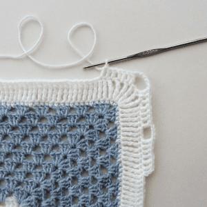Kare Bebek Battaniyesi Yapılışı 2