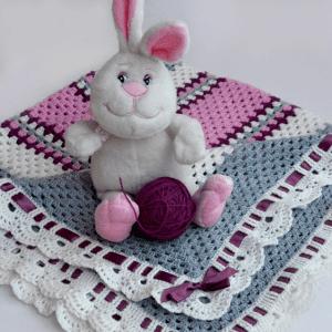 Kare Bebek Battaniyesi Yapılışı 4