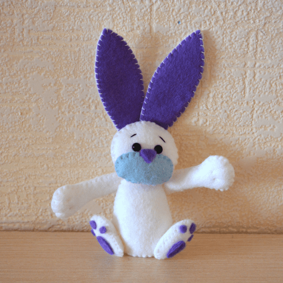 Keçe Tavşan Yapılışı Mimuucom