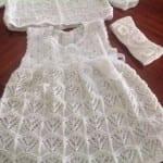 Kız Bebeklere Örgü Elbise Modelleri 104