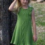 Kız Bebeklere Örgü Elbise Modelleri 105