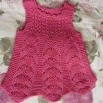 Kız Bebeklere Örgü Elbise Modelleri 110