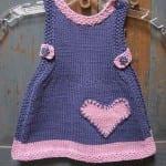 Kız Bebeklere Örgü Elbise Modelleri 112