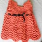 Kız Bebeklere Örgü Elbise Modelleri 116