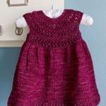 Kız Bebeklere Örgü Elbise Modelleri 118