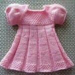 Kız Bebeklere Örgü Elbise Modelleri 12