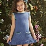 Kız Bebeklere Örgü Elbise Modelleri 131