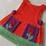 Kız Bebeklere Örgü Elbise Modelleri 134