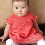 Kız Bebeklere Örgü Elbise Modelleri 135