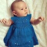 Kız Bebeklere Örgü Elbise Modelleri 136