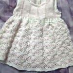Kız Bebeklere Örgü Elbise Modelleri 13