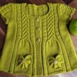 Kız Bebeklere Örgü Elbise Modelleri 138