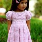 Kız Bebeklere Örgü Elbise Modelleri 161