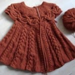 Kız Bebeklere Örgü Elbise Modelleri 162