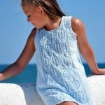 Kız Bebeklere Örgü Elbise Modelleri 165