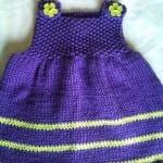 Kız Bebeklere Örgü Elbise Modelleri 166