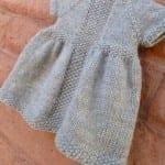 Kız Bebeklere Örgü Elbise Modelleri 16