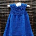 Kız Bebeklere Örgü Elbise Modelleri 174
