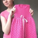 Kız Bebeklere Örgü Elbise Modelleri 18