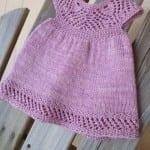 Kız Bebeklere Örgü Elbise Modelleri 192