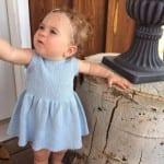 Kız Bebeklere Örgü Elbise Modelleri 194