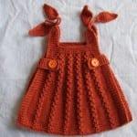 Kız Bebeklere Örgü Elbise Modelleri 195