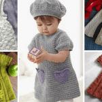 Kız Bebeklere Örgü Elbise Modelleri 203