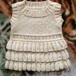 Kız Bebeklere Örgü Elbise Modelleri 22