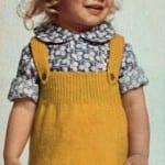 Kız Bebeklere Örgü Elbise Modelleri 2