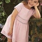 Kız Bebeklere Örgü Elbise Modelleri 32