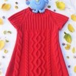 Kız Bebeklere Örgü Elbise Modelleri 33