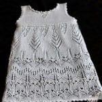 Kız Bebeklere Örgü Elbise Modelleri 37