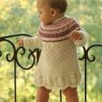 Kız Bebeklere Örgü Elbise Modelleri 41