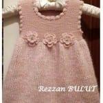 Kız Bebeklere Örgü Elbise Modelleri 45