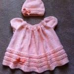 Kız Bebeklere Örgü Elbise Modelleri 4