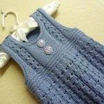 Kız Bebeklere Örgü Elbise Modelleri 49