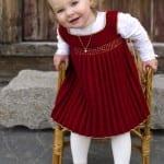 Kız Bebeklere Örgü Elbise Modelleri 53