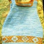 Kız Bebeklere Örgü Elbise Modelleri 58