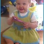 Kız Bebeklere Örgü Elbise Modelleri 59