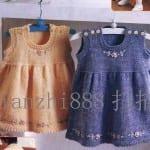 Kız Bebeklere Örgü Elbise Modelleri 63