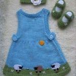 Kız Bebeklere Örgü Elbise Modelleri 67