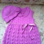 Kız Bebeklere Örgü Elbise Modelleri 70