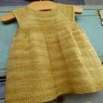 Kız Bebeklere Örgü Elbise Modelleri 74