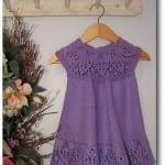 Kız Bebeklere Örgü Elbise Modelleri 7