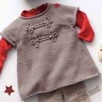 Kız Bebeklere Örgü Elbise Modelleri 82