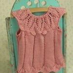 Kız Bebeklere Örgü Elbise Modelleri 91