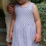 Kız Bebeklere Örgü Elbise Modelleri 97